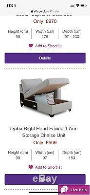 Lydia DFS corner Sofa Bed