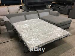 M&S Copenhagen Storage Chaise Sofa Bed Parros Chenille Grey Fabric RRP £2099