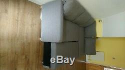 M & S corner sofa bed grey fabric, with storage