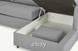 MADE. COM Milner Right Hand Facing Corner Storage Sofa Bed Granite Grey RRP £1299