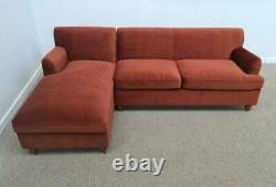 MADE. COM Orson LHF Chaise End Corner Sofa Bed, Warm Caramel Velvet (1017)