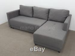 MADE. COM Right Hand Facing Corner Sofa Bed, Grey FREE SHIPPING