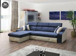 - MILAN Universal SIDE Corner Sofa bed Fabric Comfy Couch L244x170CM