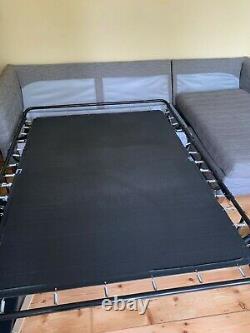 Made. Com Bari Right Hand Facing Corner Storage Sofa Bed, Malva Graphite (grey)