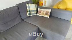 Modern IKEA Friheten Corner Sofa bed with hidden storage Dark Grey