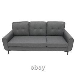 Modern Sofa Left&Right Hand Side Corner Sofa Armrest Bed 3 Seater Storage Grey