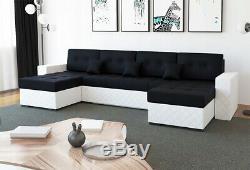 Modern bespoke corner sofa bed BASEL U-shape