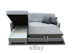 Mustard Yellow Corner Sofa Bed With Storage& Sprung Seat