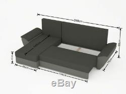NEW Corner Sofa bed function box for storage