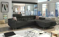 NEW Corner sofa bed ANTOL 09 (fabric / faux leather) Model 2019