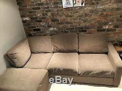 Nabru Self Assembly Corner Sofa Bed