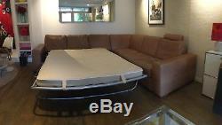 Natuzzi Leather Corner Sofa Sofa bed brown leather