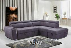 Nevada grey Sofa bed either left or right hand facing
