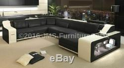 New Corner Sofa Bed with LED U Shaped