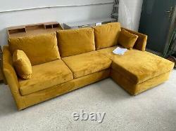 New Made. Com Milner Gold Velvet Corner Sofa Bed
