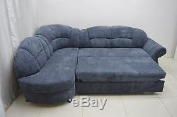 New Sofa Bed Corner Romero Fabric, Springs, Super Soft Waffle Fabric Grey