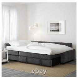 Next To No Use! IKEA FRIHETEN Corner sofa-bed with storage Dark Blue/Grey