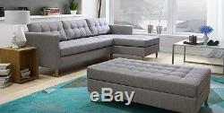 Pouf Quest Corner Couch Set Sofa Bed Box with Sleep Function Colour Savana 5