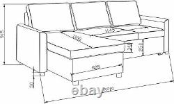 Regal Corner Sofa Bed Large Storagegrey Fabric Universal Side