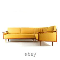 Retro Vintage Danish Teak Corner L Shape Daybed Sofa Bed 60s Mid Century Modern