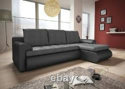 Right Hand Side Corner Sofa Bed in Grey colour with one storage