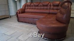 SALE! Corner Sofa Bed + Storage, Real Soft Leather, left or right, NEW