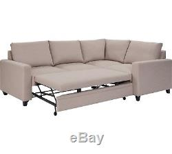 Seattle Right Hand Corner Sofa Bed Natural