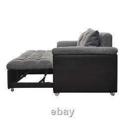 Senctional Sofa Corner Unite Sofa Bed with Storage & Reversible Chaise Lounge