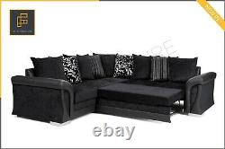 Shannon Vigo CORNER SOFA BED with Storage Formal Full or Scatter Back Fabric