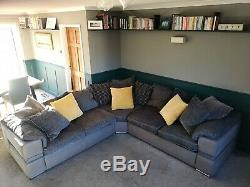 Sofology Large Grey Corner Sofa with pull out bed