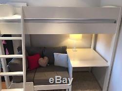 Stompa high sleeper bed, desk and corner sofa