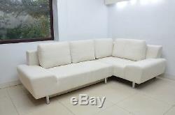 Super Soft Waffle Fabric Corner Sofa Bed''ricco'', Off White, 260 X 160cm