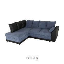 The new Corner Sofa bed soft seater Blue fabric, stylish Modern Luxury Design