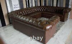 U-shape Chesterfield corner sofa bed any colour (c-shaped sofa)