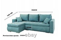 Universal Corner Sofa Bed in Navy colour with bonell seat & one storage velvet