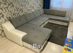 Used Large Corner Sofa Bed Multicoloured Good all round