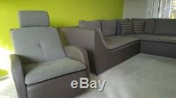 Used corner sofa bed with storage+armchair