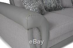 Vigo, Shannon Corner Sofa Bed With Storage, Grey Fabric 248 cm x 248 cm