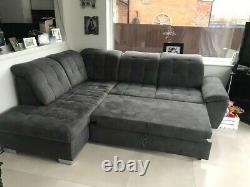 Wayfair Grey Corner sofa bed only one month old