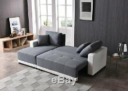 WestWood Sofa Bed With Under Seat Storage Fabric Faux Leather Couch Settee FSB10