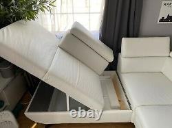 White Good Quality Leader/corner sofa bed/ with storage used/nearly Newith
