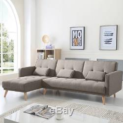 X-Large Luxury Modern 3/4 Seater Recliner Fabric Sofabed Corner Sofa bed Settee